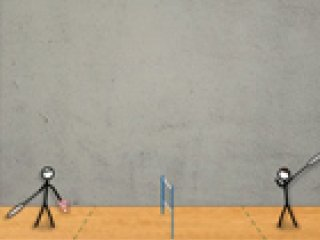 Stick Figure Badminton - 2