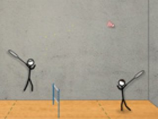 Stick Figure Badminton - 3