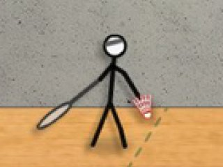 Stick Figure Badminton - 4