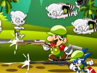 Mario and Sonic Zombie Attack